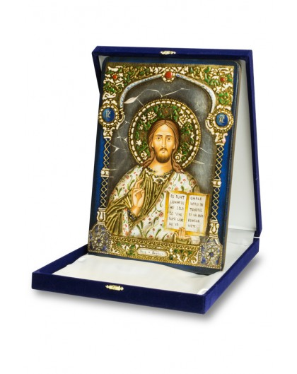 The Blue and Gold Icon - Jesus big