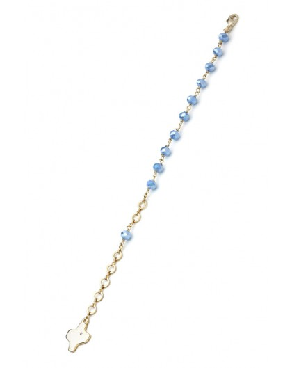 Crystal Bracelet - Light Blue - Metal Gold