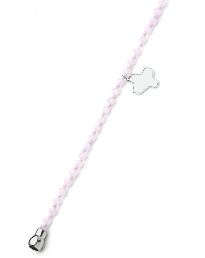 Crystal Bracelet - Pink - Magnetic clip