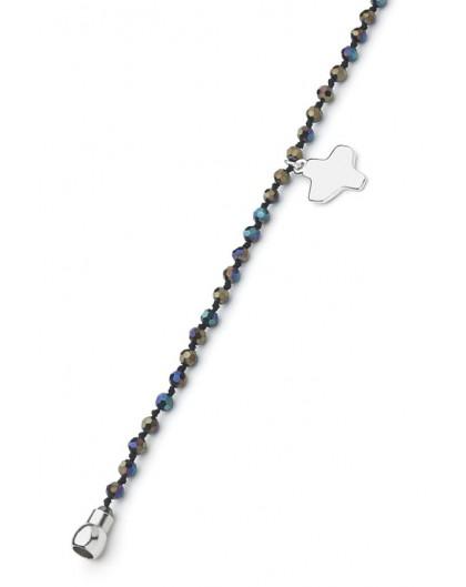 Crystal Bracelet - Aurora Black - Magnetic clip