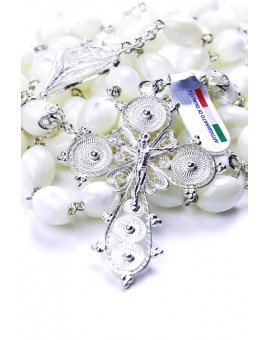 Filigree Mother of Pearl Rosary