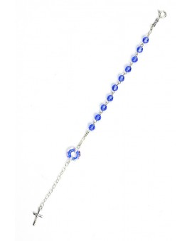 Swarovski Crystal Circle Rosary Bracelet Light Blue