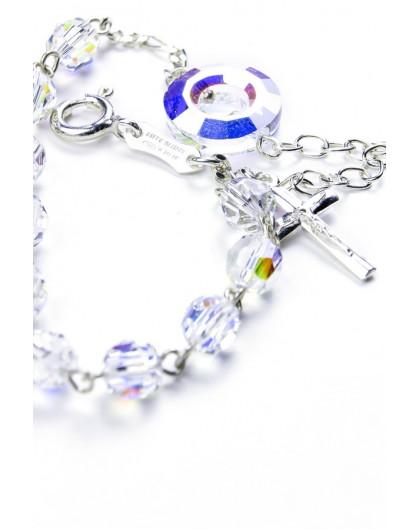 bd5231515 Swarovski Crystal Circle Rosary Bracelet Clear