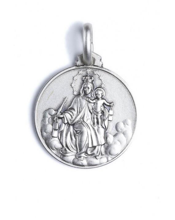 Carmel Virgin Mary sterling silver medal