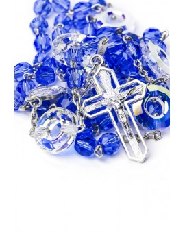 Swarovski crystal Circle Paters Blue Rosary