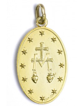 Miraculous gold plated medal