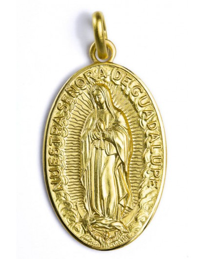 Our Lady of Guadalupe gold plated medal