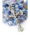 Sky Blue Murano glass Rosary