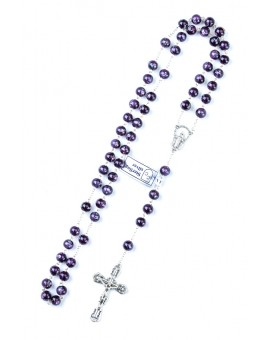 Violet Murano Glass Rosary 6mm