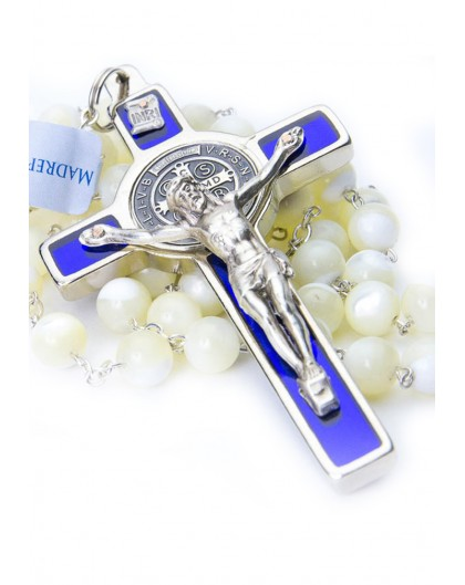 St. Benedict Mother of Pearl Rosary