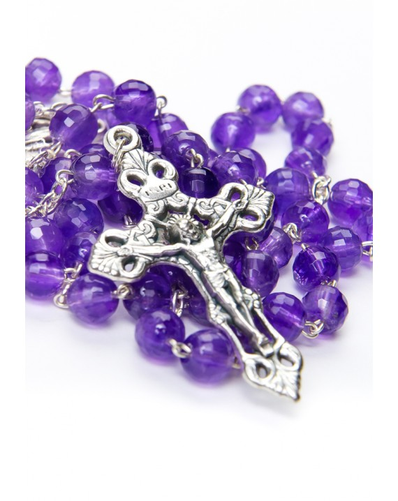 Amethyst Rosary faceted beads