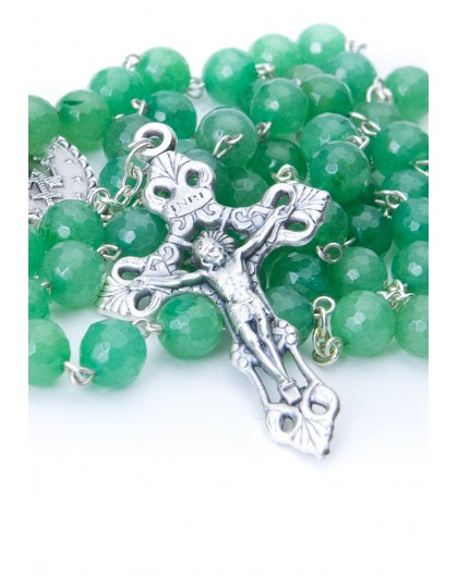Faceted Aventurina Rosary