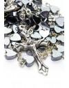 Metal Hearts Rosary