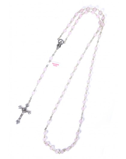 Pale Rose Quartz Rosary