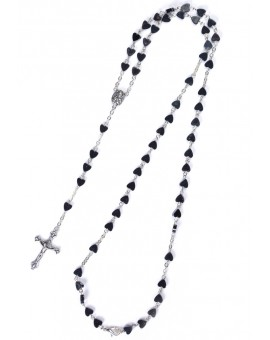 Metal Hearts Rosary