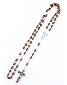 Wood faceted Rosary