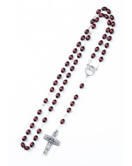 Pope Francis Rosary with Papal Crucifix