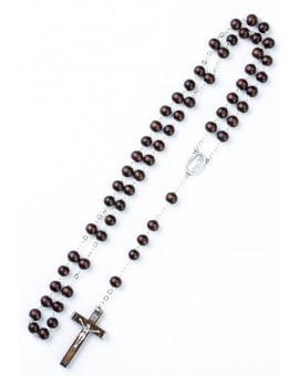 Dark wood beads Rosary