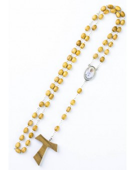 Tau Crucifix Rosary with Pope Francis