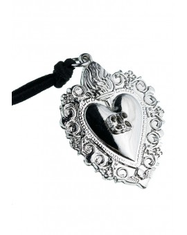 Ex Voto - Gratia received heart Necklace Silver