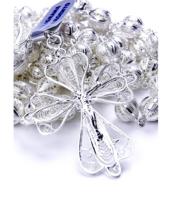 Sterling Silver Air Filigree Rosary