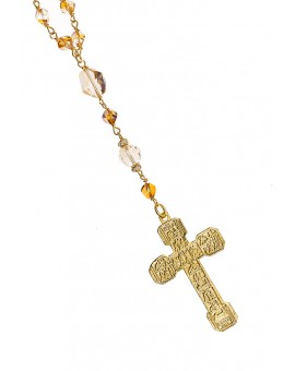 Clear and Gold Swarovski Gold Plated Necklace