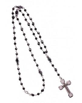 Black Swarovski Silver Necklace