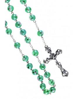 Green Murano Glass Rosary 6mm