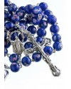 Deep Blue Murano Glass Rosary 6mm