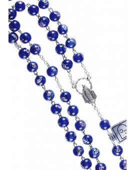 Deep Blue Murano Glass Rosary 6mm