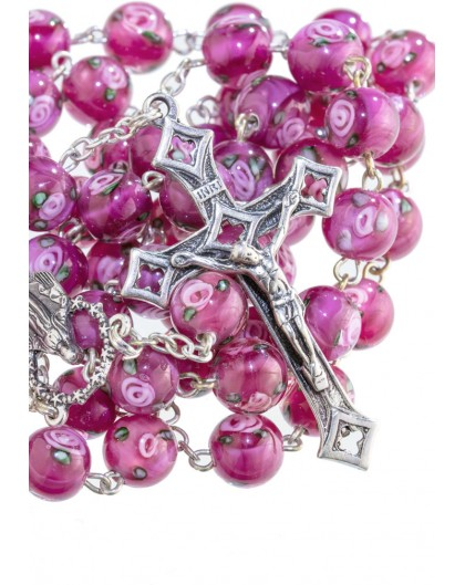 Rose Murano Glass Rosary