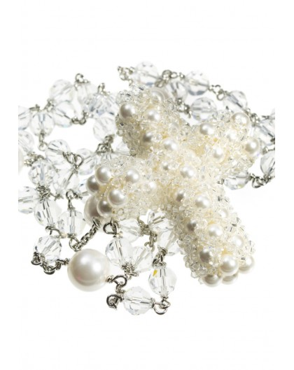 Pearls Crucifix  - Swarovski and Pearls Rosary