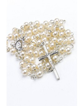 Mini Glass Pearls Rosary