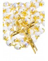 White and Gold Crystal - Big Rosary