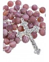 Satin Translucent Variegate Agate Rosary - Giade 10
