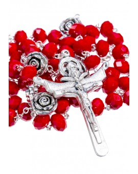Crystal and Rose Paters - Deep Red