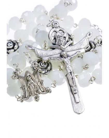Crystal and Rose Paters - Opaline White