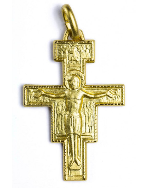 St. Damiano Crucifix gold plated