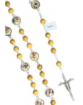 Via Crucis Ulive wood Rosary