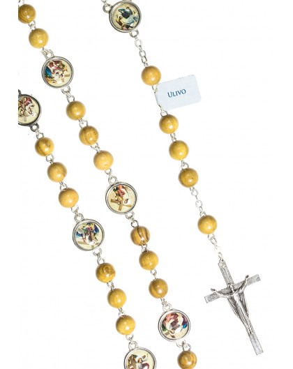 Via Crucis Ulive wood Rosary