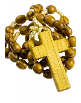 Pine wood light rope Rosary