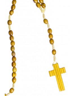 Pine wood light rope Rosary