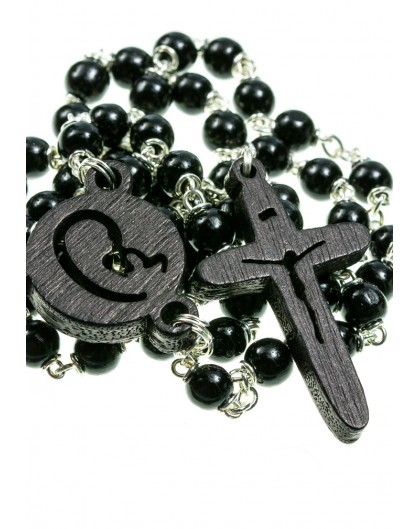 The Shape - wooden Rosary - Black