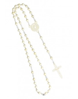 The Shape - wooden Rosary - White