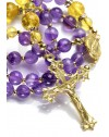 Lavender Amethyst, Cytrine Gold Quartz, strass rings, Sterling Silver Gold Plated