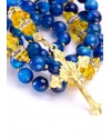 Sunflower and Capri Blue Rosary
