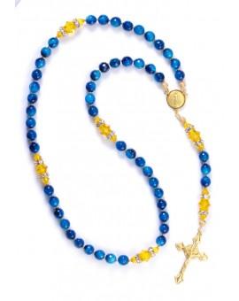 Sunflower and Capri Blue Rosary