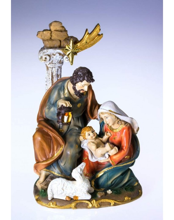 Handpainted resin Nativity