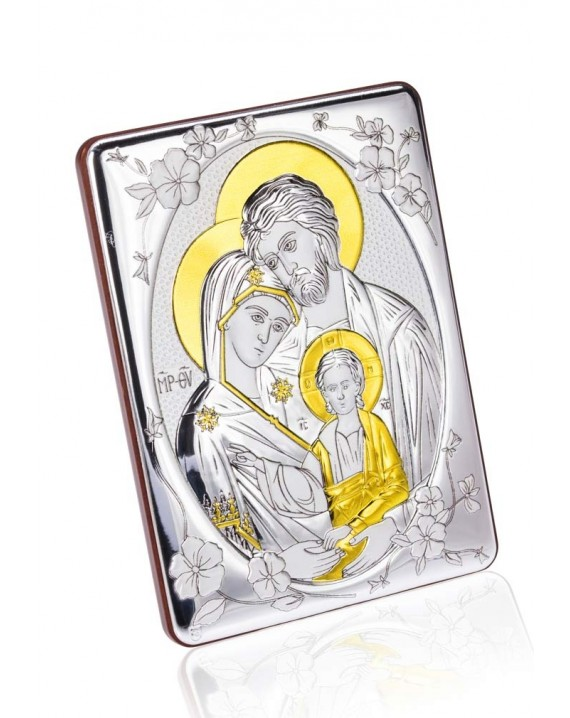 Bilaminate Silver Holy Family