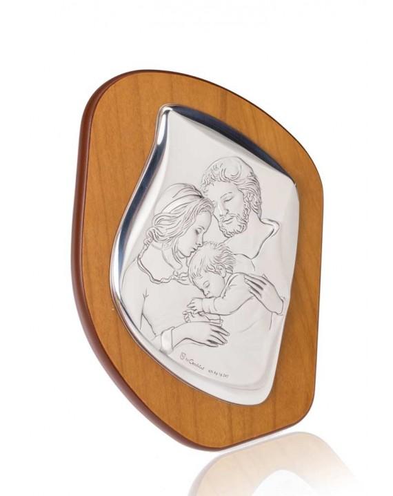 Nativity Silver Icon plaque on precious wood.